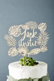 Custom Tropical Wedding Cake Topper Monstera