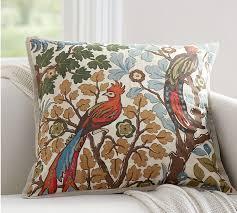 pottery barn bird pillow anna marie embroidered bird indoor