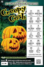 Halloween Millionaire Raffle Pa by Pennsylvania Lottery Pa Lottery Scratch Offs