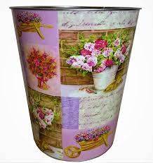 kp 2er set papierkörbe papierkorb vintage pink lila