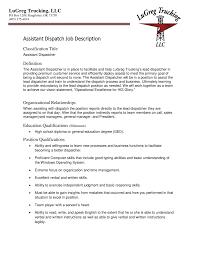 Cover Letter Dispatcher Job Description For Resume Imzadi Fragrances Free Assistant
