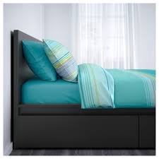 Ikea Bed Frame Queen by Malm High Bed Frame 2 Storage Boxes Queen Lönset Ikea