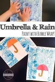 Bubble Wrap Rain Craft