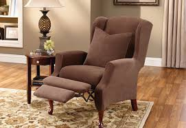 wing chair recliner slipcovers wing chair recliner stretch pique chair recliner cover plaid