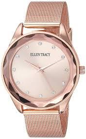 100 Desjardins Elegance Ellen Tracy Womens ET5180RG Analog Display Analog Quartz Rose Gold Watch