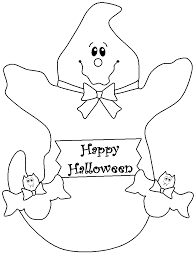Happy Halloween Ghost Coloring Pages