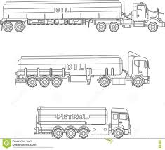 100 Coloring Pages Of Trucks Set Different Gasoline Flat Linear Icons