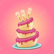 Happy birthday cake Stock Illustration