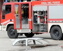 100 Fire Truck Parts Road Accident With Car And The Truck Stock Photo Picture