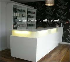 2016 Customized Hot Sales White MDF Hotel Front Counters Table Reception Desk Luxury