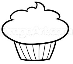Drawn cupcake easy draw 1
