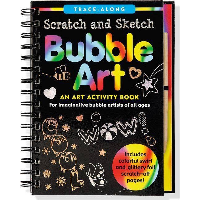 Bubble Art Scratch and Sketch: Trace-Along - Peter Pauper Press