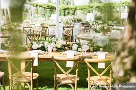 Rustic Xback Vineyard Chairs Head Table Garland Lakechelanflowers