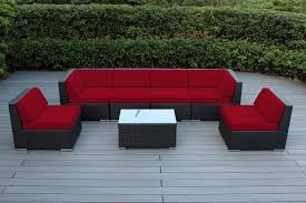 Red Patio Furniture Decor by Furniture Cheap Wicker Patio Furniture With Glass Modern Table