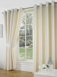 Faux Silk Eyelet Curtains by Faux Silk Eyelet Curtains Cream 66x72