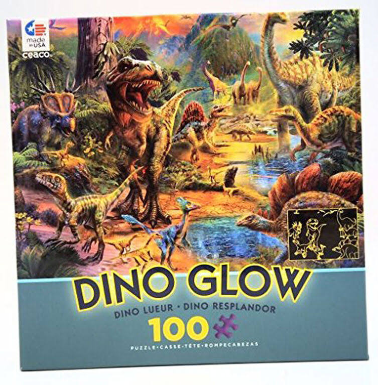 Ceaco Dino Glow in the Dark Landscape Puzzle - 100pcs