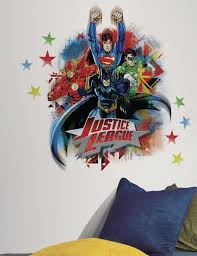 Wall Mural Decals Amazon by Amazon Com Roommates Rmk2165gm Justice League Peel And Stick