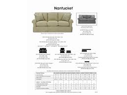 Rowe Nantucket Sofa With Chaise by Rowe Nantucket 84
