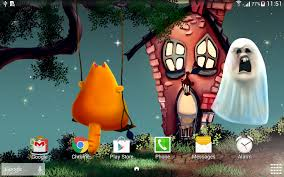 Halloween Live Wallpapers Android by Cute Halloween Wallpaper Android Apps On Google Play