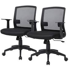 Office Chair Desk Chair Computer Chair With Lumbar Support Armrest  Ergonomic Cheap Swivel Rolling Mesh Mid Back Executive Chair For Women Men  ...