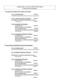 tarif salle des fetes les salles municipales et leurs tarifs de location site officiel