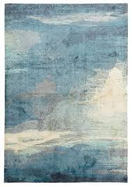Monet Stunning Blue Rug Floorsome Cit Round Rugs Sydney Lodge Circular Modern Carpets For Living Room