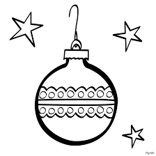 Christmas Tree Ball Coloring Page