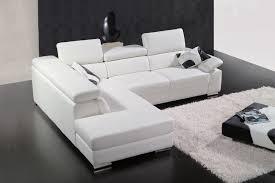 canapé cuir d angle canapé d angle en cuir italien 5 places helios blanc mobilier privé