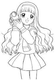 Anime Girls Coloring Pages
