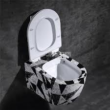 wand montiert flush wc badezimmer waschraum geometrische stein muster direkt spülung keramik wc closes wasser tank buy wand montiert flush