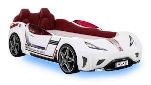 chambre voiture garcon lit voiture enfant gti blanc led
