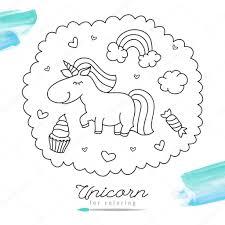 Para Colorear Y Pintar Imprimir Dibujos De Unicornio Niños Draw