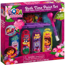 dora the explorer bath time paint set 6 pc walmart com