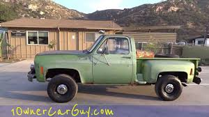 100 Stepside Trucks 1975 Chevy K10 4x4 Manual 350 V8 Pickup Truck Classic