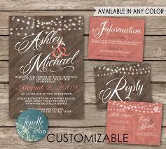 Wedding Invitation Kits Diy Printable Contemporary