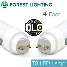 forest lighting 4 foot t8 t12 led light replacement dlc