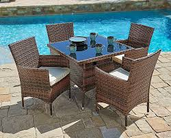 SUNCROWN Outdoor Dining Set Brown Wicker Furniture 5-Piece Square ... Bella All Weather Wicker Patio Ding Set Seats 6 Maribella White Modern Outdoor Eurway Marquesas 7pc Tortuga Polywood La Casa Cafe Commercial Collections 5piece Wrought Iron Fniture 4 12 Seater Table Kf87 Roccommunity Tommy Bahama Misty Garden French Country Glass Top Metal Roundup Emily Henderson Signature Design By Ashley Marsh Creek 7piece Dublin Ireland Lisbon 220cm 8 Seat Catalina Chairs Temple Webster