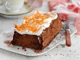 möhrenkuchen mit frischkäse topping