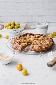 mirabellen galette mit mandeln