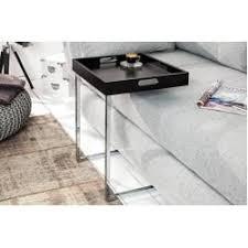 design beistelltisch ciano 40cm schwarz chrom tablett tisch