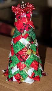Christmas Tree Folded Fabric Decoration