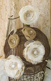 Burlap Cake Flowers Wedding Fabric Rustic