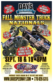 100 Monster Truck Race This Friday And Saturday Night Sept 1819 Days Chevrolet Fall