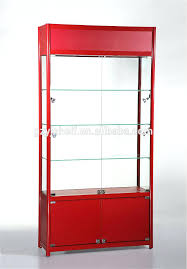 Retail Wall Display Shelves Cabinets For Collectibles Boutique Store Fixtures Glass Salon