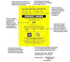 Image Of Refrigerator Ref Energy Label Guide