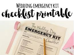 Wedding Day Emergency Kit Checklist