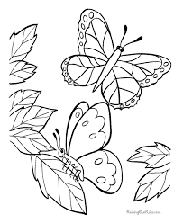 Coloring Pages Printable Butterfly Animals Book To Printleaves Design Paper Unique Beautiful Small Flowers No