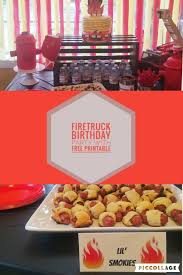 Fire Truck Birthday Party Ideas And Free Printable Banner And Food ...