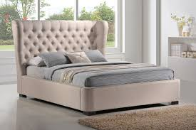 King Platform Bed With Fabric Headboard by Bedding Modern Gray Fabric Upholstered Extended Headboard King