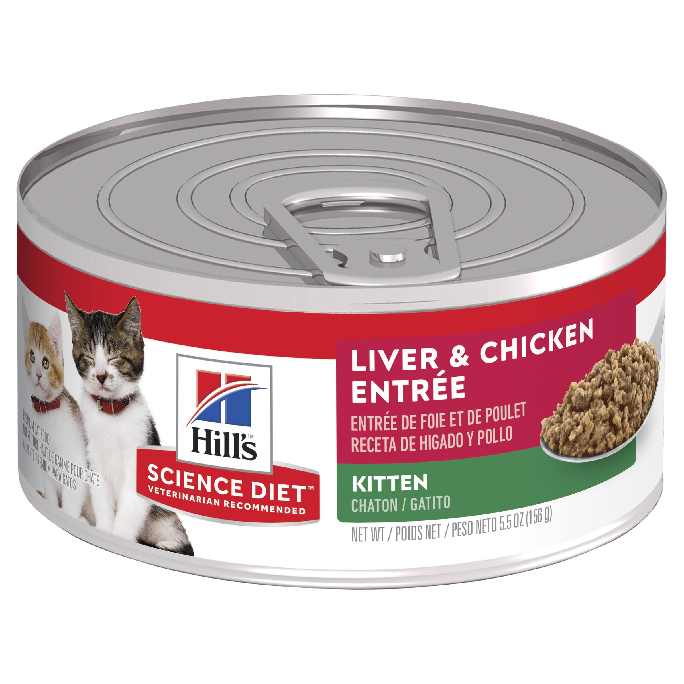 Hill's Science Diet Kitten Food - Liver & Chicken Entree, 5.5oz